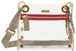Tony Small Clear (Clear Pewter/Brushed Gold) Handbags