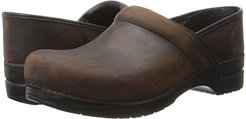 Professional (Antique Brown Oiled Leather) Men's Clog Shoes