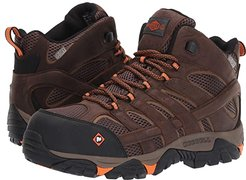Moab Vertex Mid Waterproof Composite Toe (Clay) Men's Work Lace-up Boots