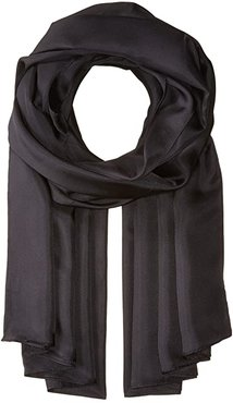 The Everyday Silk Wrap (Black) Scarves