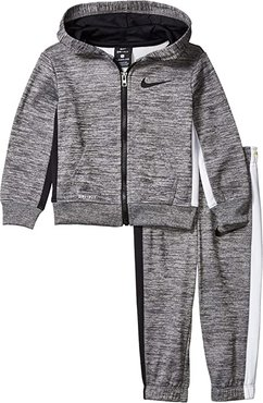 Therma-FITtm Color-Block Full Zip Jacket and Jogger Pants Two-Piece Set (Toddler) (Dark Grey Heather) Boy's Active Sets