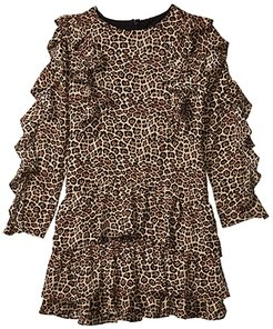 Whit Rara Dress (Big Kids) (Leopard) Girl's Clothing