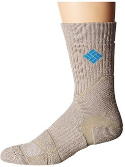 Hiking Medium Weight Crew (Khaki) Crew Cut Socks Shoes