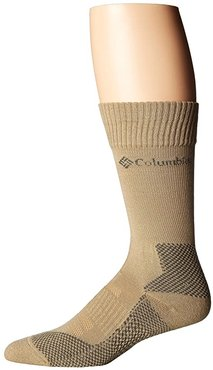 Hiking Lightweight Merino Crew 1-Pack (Khaki) Crew Cut Socks Shoes
