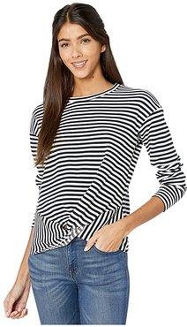 Bishop + Young Tradewind Sweatshirt (Navy Stripe) Women's Sweater
