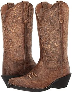 Round Up Square Toe (Vintage Bomber) Cowboy Boots