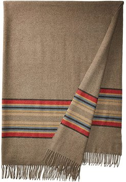 5th Avenue Throw (Mineral Umber Stripe) Blankets