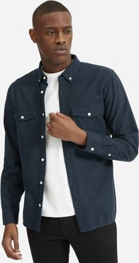 Brushed Flannel Shirt by Everlane in Heather Navy, Size XL