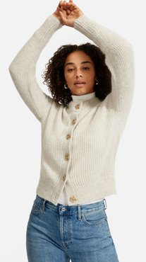 Cropped Alpaca Cardigan by Everlane in Almond, Size XS