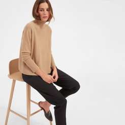 Cashmere Square Turtleneck Sweater by Everlane in Camel, Size XL