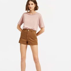 Air Oversized Crew T-Shirt by Everlane in Faded Pink, Size L