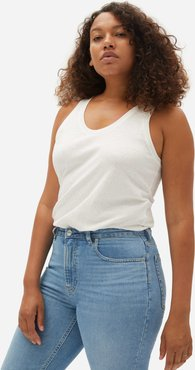 ReCotton Racerback Tank by Everlane in Off White, Size M