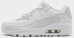 Boys' Big Kids' Air Max 90 Casual Shoes in Grey Size 4.5 Leather