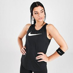 Swoosh Running Tank Top in Black Size X-Small
