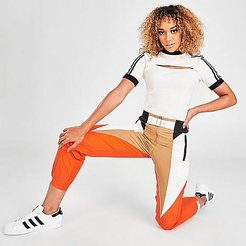 Originals Paolina Russo Track Jogger Pants in Orange Size X-Large 100% Nylon