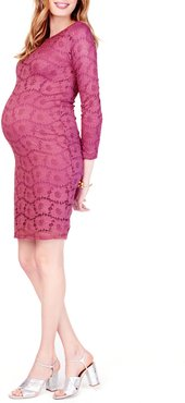 Ingrid & Isabel Floral Lace Body-Con Maternity Dress