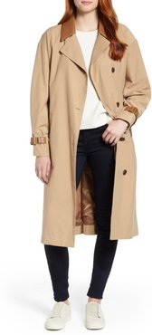 Grace Oversize Twill Trench Coat, Size 3 - Beige