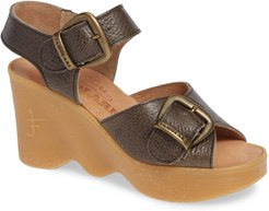 Double Vision Wedge Sandal, Size 6 M - Grey