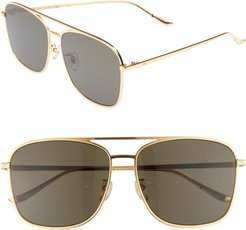 Blanc & Eclare Geneva Large 60Mm Polarized Metal Aviator Sunglasses -