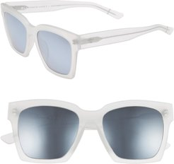 Blanc & Eclare New York 54Mm Polarized Sunglasses - Matte/ Silver Mirror