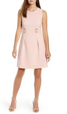 Anne Crepe Fit & Flare Dress