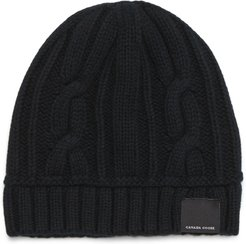 Cabled Merino Wool Toque Beanie -