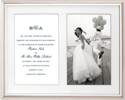 Rosy Glow Double Invitation Bridal Picture Frame