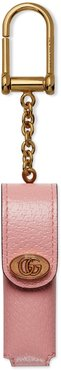 Porte Rouges Leather Lipstick Case Key Chain - Pink