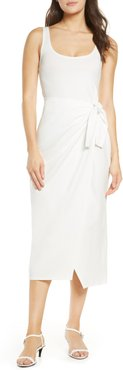Zenna Sleeveless Faux Wrap Dress
