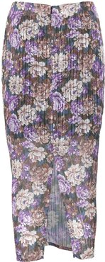 Alexis Ruched Floral Midi Skirt