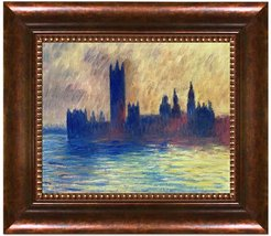 London. Houses of Parliament (Sun Breaking Through the Fog) by Claude Monet Framed Hand Painted Oil on Canvas at Nordstrom Rack