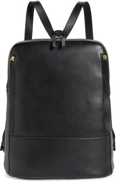 Finny Black Leather Backpack -