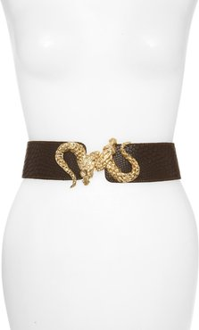 'Penelope - Dragon' Stretch Belt Brown