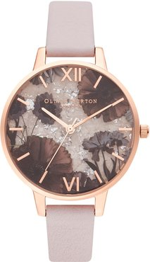 Celestial Leather Strap Watch, 34mm