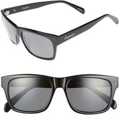 Wilshire 55mm Polarized Sunglasses - Black/ Grey Polar