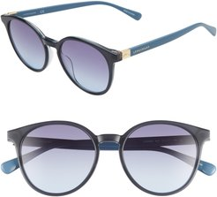 Le Pliage 51Mm Gradient Round Sunglasses - Blue