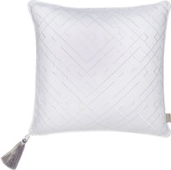 Trellis Embroidered Accent Pillow