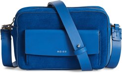 Archie Leather Crossbody Bag - Blue