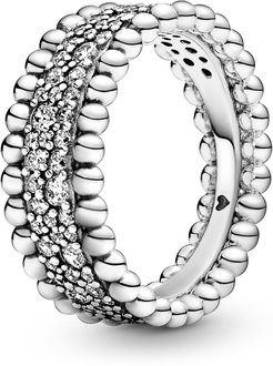Beaded Pave Ring