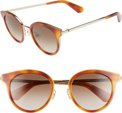 Lisanne 50mm Special Fit Round Sunglasses -