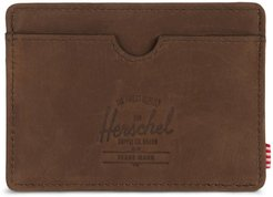Charlie Leather Rfid Card Case - Brown