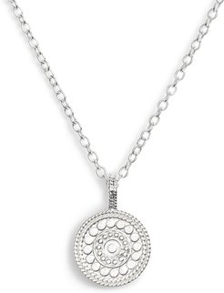 Beaded Reversible Circle Pendant Necklace (Nordstrom Exclusive)