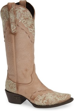 Jeni Lace Embroidered Western Boot