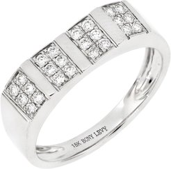 Bony Levy 18K White Gold Diamond Pave Wide Band Ring - 0.24 ctw - Size 6.5 at Nordstrom Rack