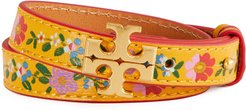 Kira Floral Leather Double Wrap Bracelet