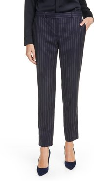 Tiluna11 Pinstripe Stretch Wool Trousers