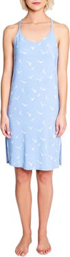 In Flight Bird Print Racerback Chemise