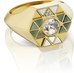 Elements Shell Inlay Pinky Ring