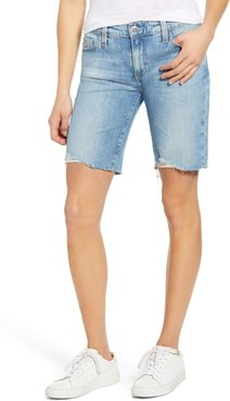 Nikki Cutoff Denim Bermuda Shorts
