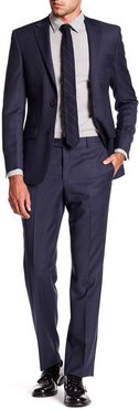 Simon Spurr Navy Pinstripe Wool Two Button Notch Lapel Suit at Nordstrom Rack